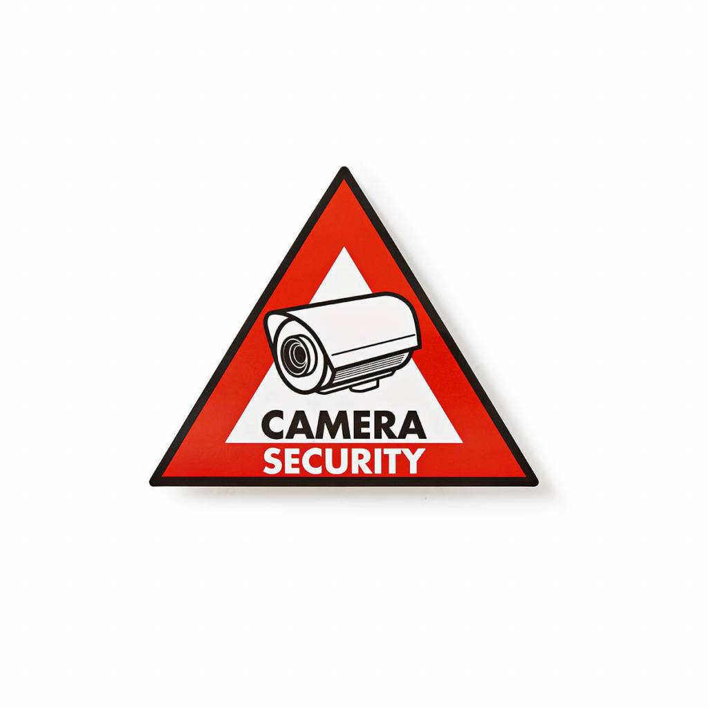 Warning sticker Camera security icon Set of 5 pieces
