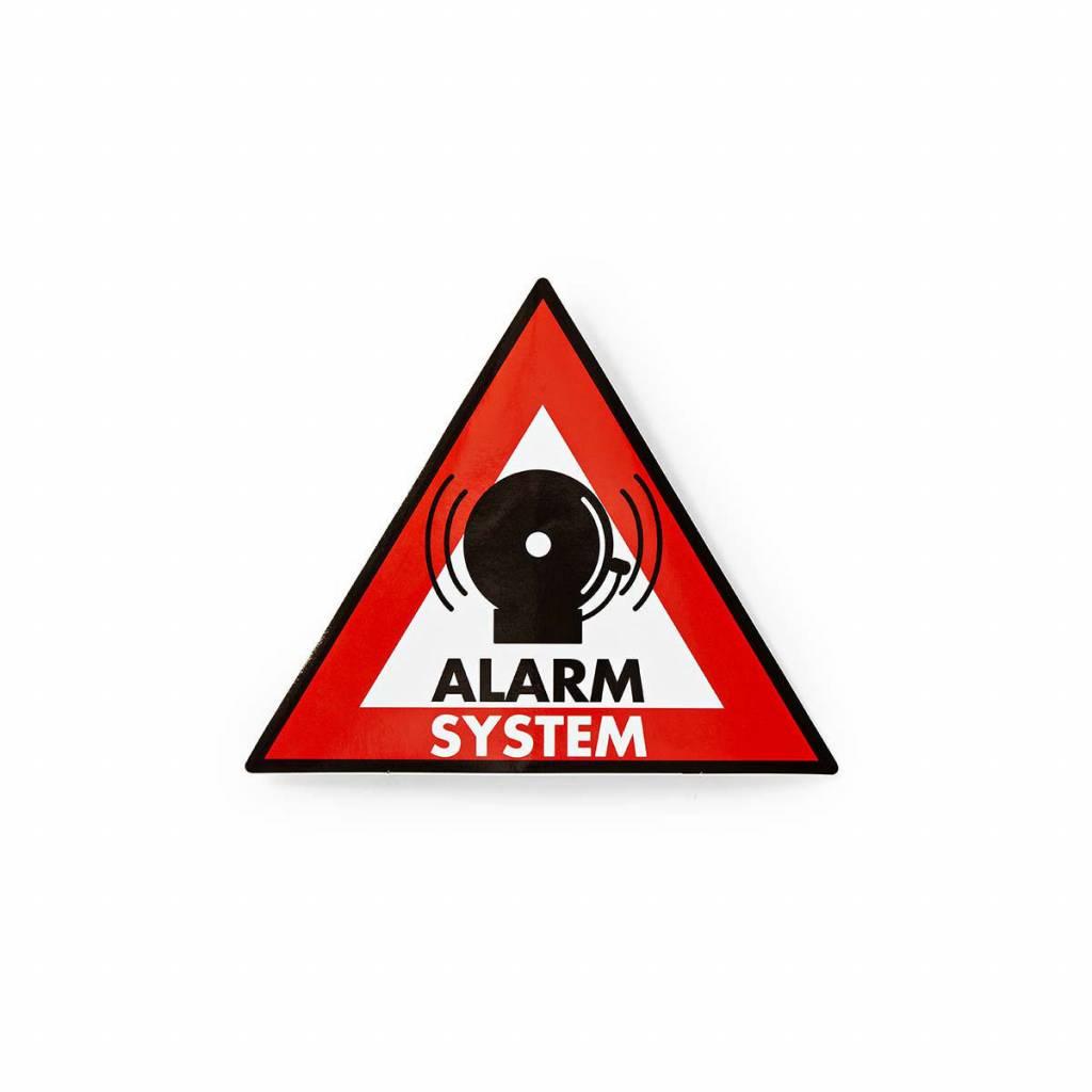 Pegatina de advertencia Icono de sistema de alarma Conjunto de 5 piezas.