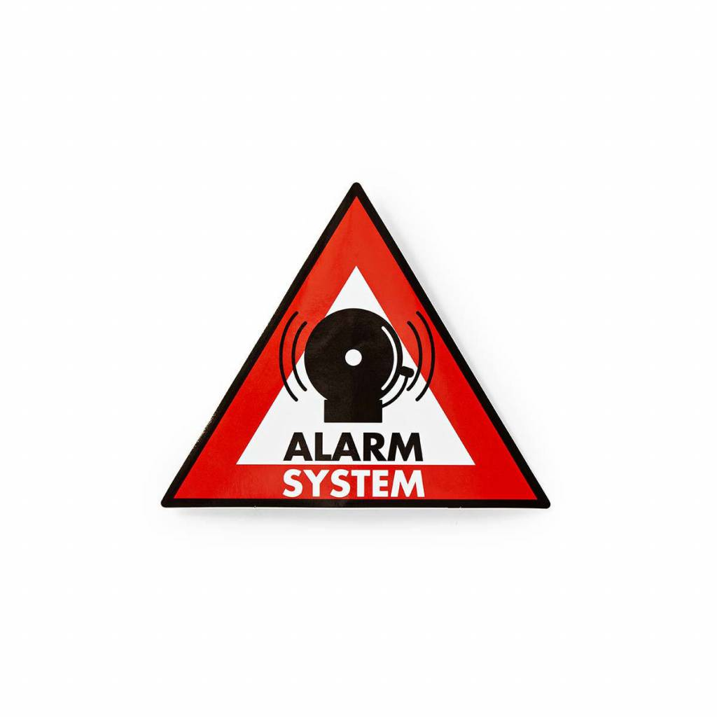 Warning sticker Alarm system icon Set of 5 pieces