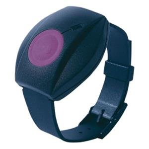 The Visonic MCT-211 wrist transmitter water-resistant can be worn around the neck (with a long cord), on the pants or on the wrist (bracelet). LED for transmission indication and low battery voltage.