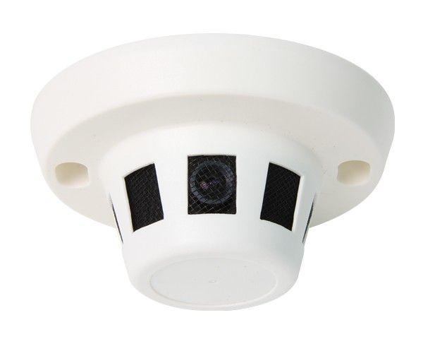 Detector de fumaça Hidden HD IP Camera, Full HD, PoE. Onvif. Com resolução de 1080p. PLUG e PLAY podem ser conectados a um NVR Hikvision com PoE! A câmera tem o PoE! Modelo pequeno detector de fumaça. Ângulo de visão de aproximadamente 90 graus. A câmera