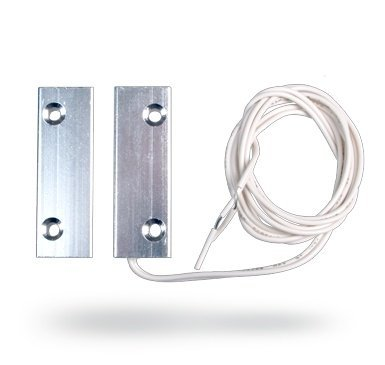 O contato magnético embutido Jablotron SA-204 é um contato magnético de metal com fio para maior imunidade contra adulteração.