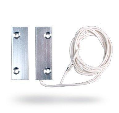 Il contatto magnetico incorporato Jablotron SA-204 è un contatto magnetico metallico cablato per una maggiore immunità contro le manomissioni.