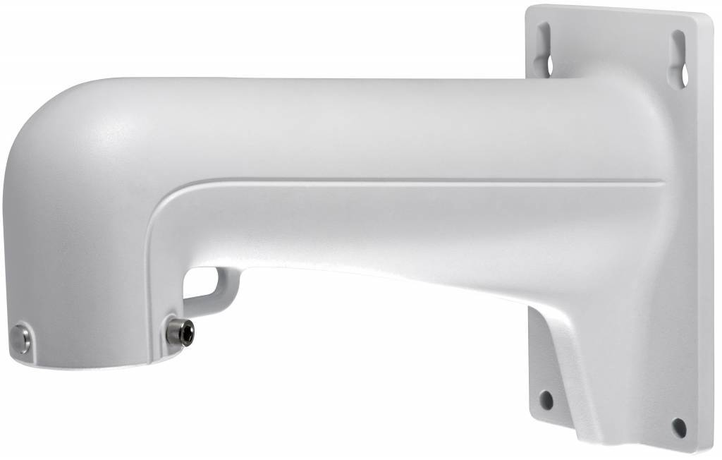 Hikvision aluminum wall bracket for, among other things, PTZ cameras from Hikvision such as the DS-2DE4182, 2DF5284, 2DE7174A and 2DE7184 / 7284-A PTZ IP dome camera and more.