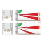 Jablotron JA-187P Detector de movimiento inalámbrico de doble zona para exteriores - cortina