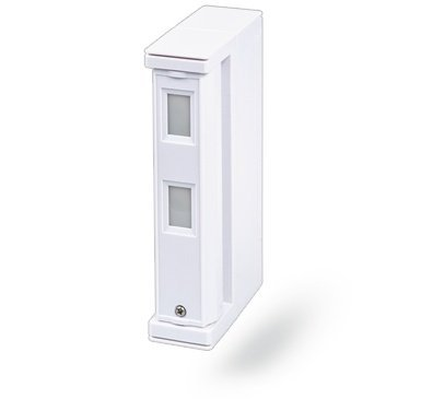 The Jablotron JA-187P Wireless Dual Zone Outdoor Motion Detector Curtain is designed to detect irregularities caused by human movement outside a building.