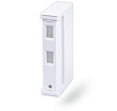 La zona dual inalámbrico JA-187P fuera detector de movimiento - cortina está diseñado para ser causada por irregularidades fuera de un edificio para detectar el movimiento del cuerpo humano.