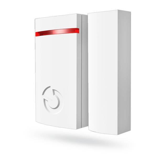 O mini contato magnético Jablotron JA-151M Wireless é projetado para detectar a abertura de portas e janelas. O JA-151M possui um design pequeno e exclusivo, adequado para todos os tipos de instalações.