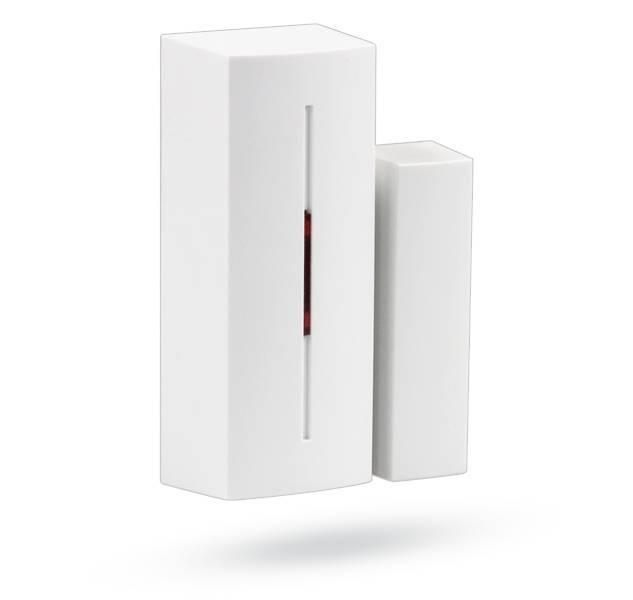 Le détecteur magnétique sans fil JA-183M - Mini taille est conçu pour détecter l'ouverture des portes et des fenêtres. Le détecteur magnétique réagit à l'élimination de l'aimant.