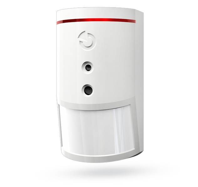 The Jablotron JA-160PC Wireless PIR motion detector with built-in photo camera. The camera takes color photos with a resolution of up to 640 x 480 pixels by ...