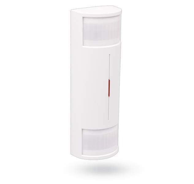 El detector de cubierta JA-186P Wireless DUAL PIR diseñado para detectar cuerpo humano dentro de un movimiento edificio. La zona de detección de doble ...