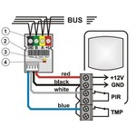 Jablotron JA-111H interfaz de módulo de bus de detectores cableados