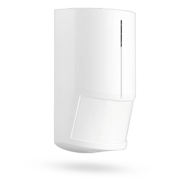 The Jablotron JA-120PW Bus PIR / MW motion detector is used for human motion detection in a building.