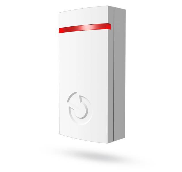 El detector inalámbrico de golpes e inclinación Jablotron JA-111SH Bus detecta los golpes de los ascensores de puertas, ventanas, etc. que se producen de manera inmediata ...