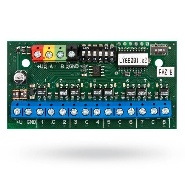 JA-118N BUS output module PG, 8 outputs