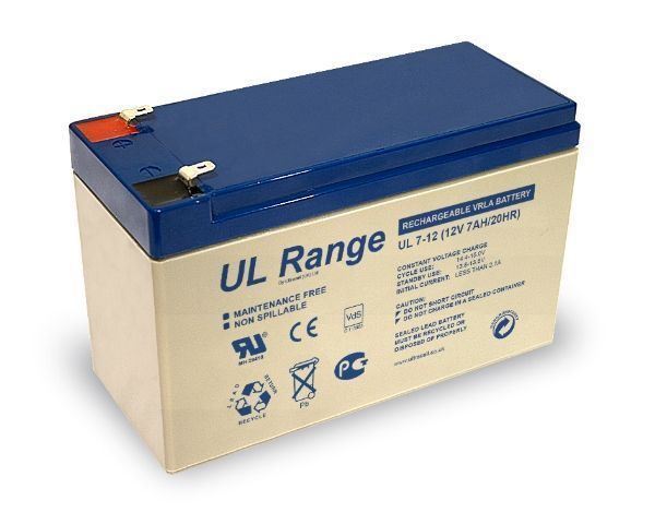 Maintenance-free rechargeable lead-calsium SA-214-7Ah battery, suitable for JA-83K and JA-106.