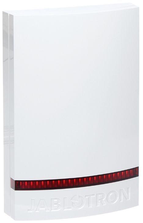 JA-C WH-1x1A-Cover per sirene JA-111A JA-151A, flash Rosso, copertina bianca in policarbonato resistente alle intemperie.