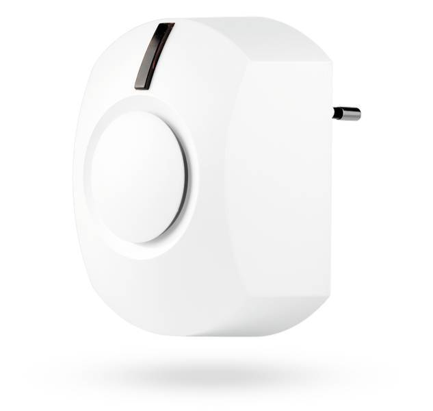 The Jablotron JA-162A Wireless Siren is suitable for indoor spaces in the socket and gives a loud alarm in the event of a burglary or tampering attempt. It can also be used for other acoustic indications such as activation of the PG outputs, i ...