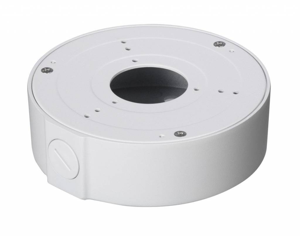 Mounting box for HAC and IPC-HFW21 / 22/41/42 / 4300SP bullet cameras, and the dome cameras HDW4100 / 4200 / 4300C.