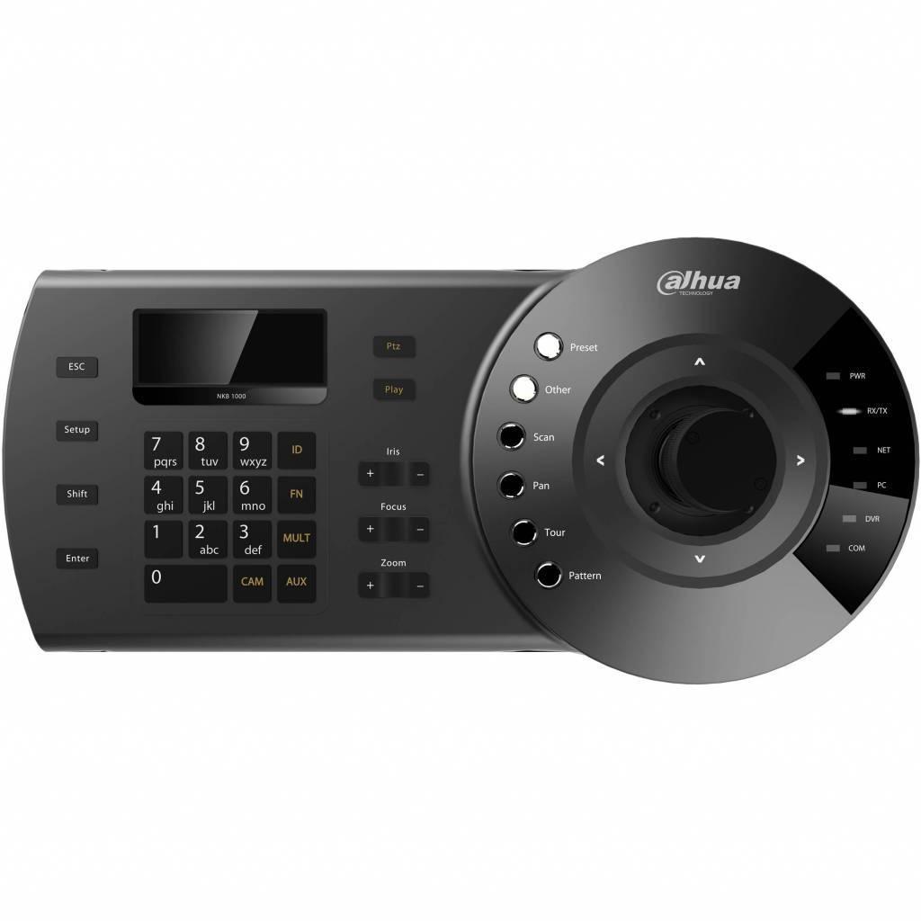 Teclado dahua DH-NKB1000 con joystick. Teclado para mando Dahua DVR, NVR y cámaras domo PTZ. RS232, RS485 y conexión de red, control y funciones PTZ joystick, teclado para controlar: DAHUA DVR, bóveda de alta velocidad DAHUA, DAHUA Serv ...