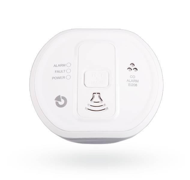Este detector de CO pode ser conectado ao Jablotron 100 usando o módulo JA-150G-CO. O detector é certificado para uso em edifícios, caravanas e barcos. O detector fornece uma concentração excessiva de monóxido de carbono tanto opticamente com um LED quant