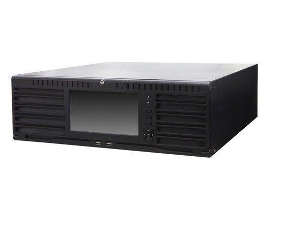 El NVR integrado de gama alta DS-96256NI-E24H es la solución para las instalaciones de cámaras más grandes. Esta versión tiene un ancho de banda de grabación máximo de 400 MBit / s, y puede grabar y mostrar hasta 8 cámaras MegaPixel.