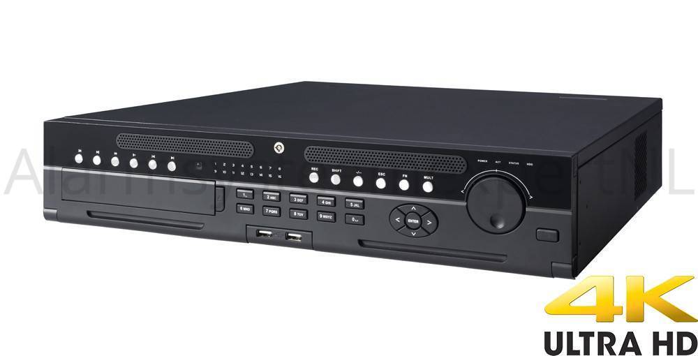 Dahua DH-NVR608-64 4KS2, Realtime Network Video Recorder voor 64 IP-camera's. Dankzij de hoge doorvoersnelheid voor de verwerking van camerabeelden en opname zal deze NVR vloeiende opname en weergave van Full HD of HD (Realtime) vertonen. Bij 4K opn...