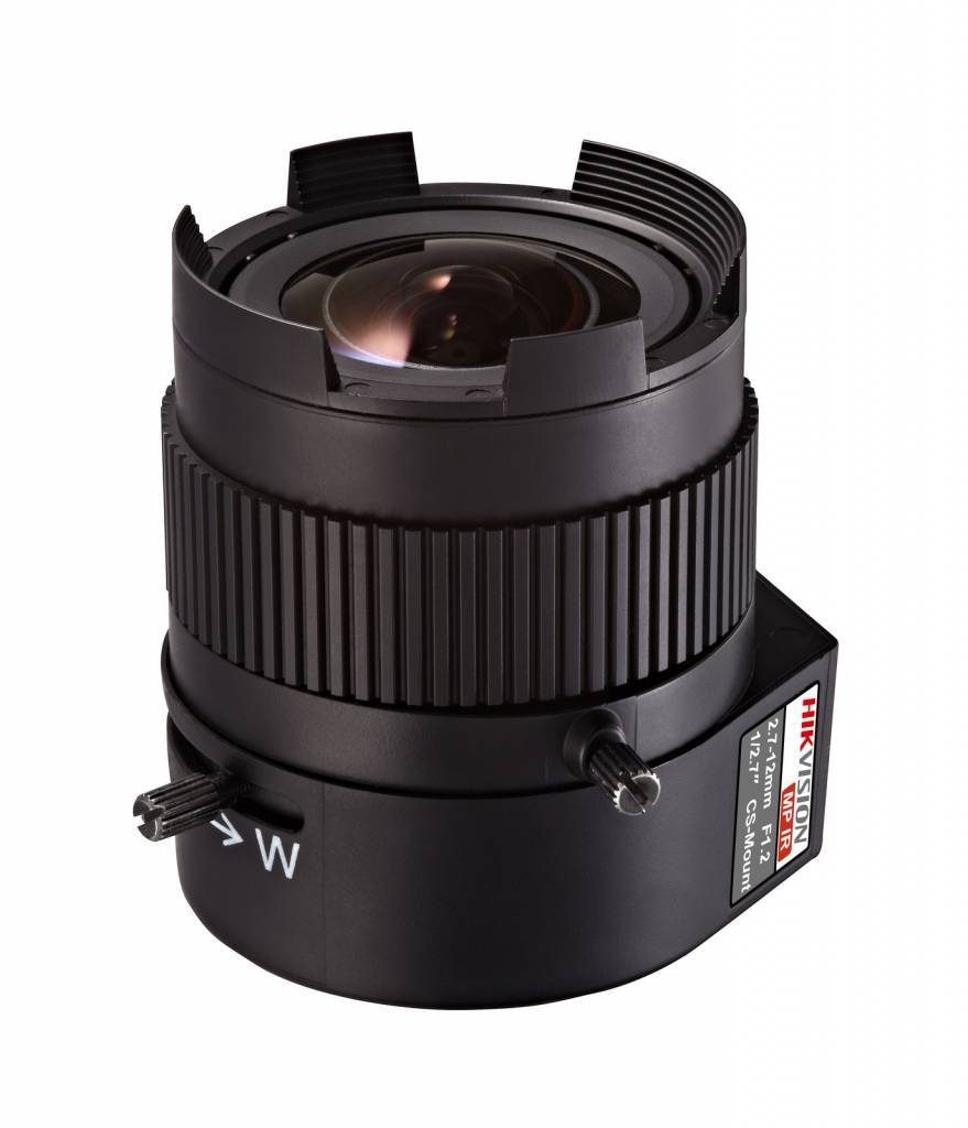 TV2712D-MPIR, Megapixel DC iris, IR corrected, vari-focal lens, 2.7 - 12mm