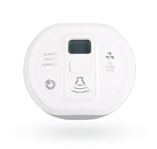 Este detector de CO se puede conectar al Jablotron 100 utilizando el módulo JA-150G-CO. El detector está certificado para su uso en edificios, caravanas y embarcaciones. El detector proporciona una concentración excesiva de monóxido de carbono, tanto ópti