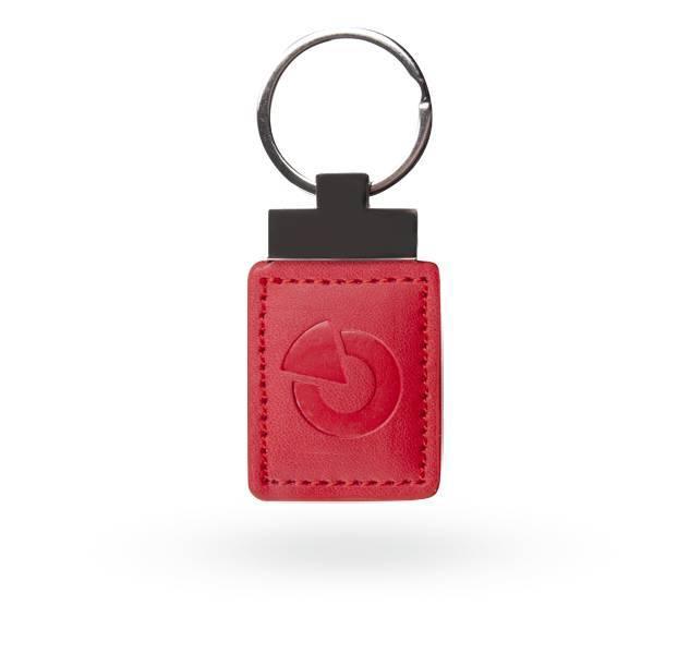 Un tag accesso versatile per consentire al sistema JABLOTRON 100 sotto forma di un portachiavi. Questo tag in pelle funziona con Jablotron codice univoco sulla frequenza di 125 kHz.