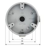 Dahua Caixa de montagem PFA137 para vários modelos de câmera