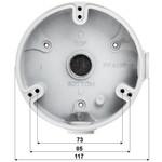 Dahua Caja de montaje PFA136 para uso en exteriores