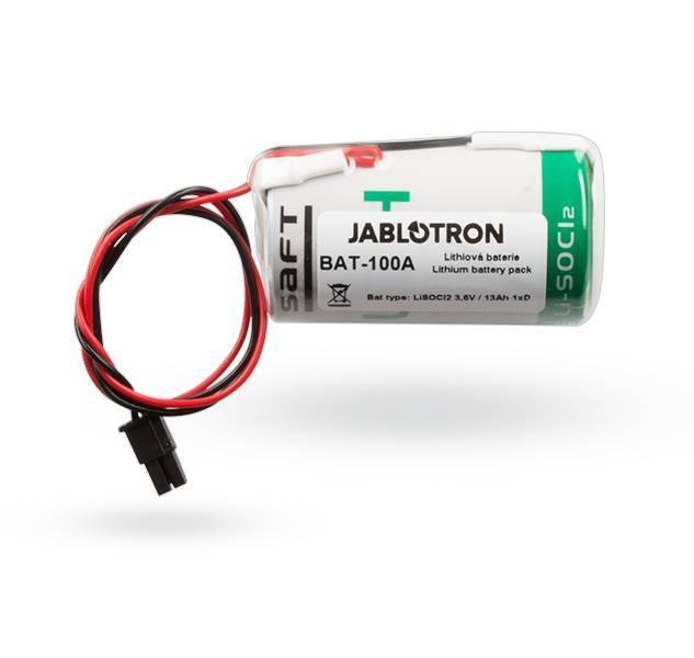 Batterie sirène d'extérieur Jablotron Bat-100 pour JA-163A RB, Batterie au lithium 3.6V 13Ah 1xD.