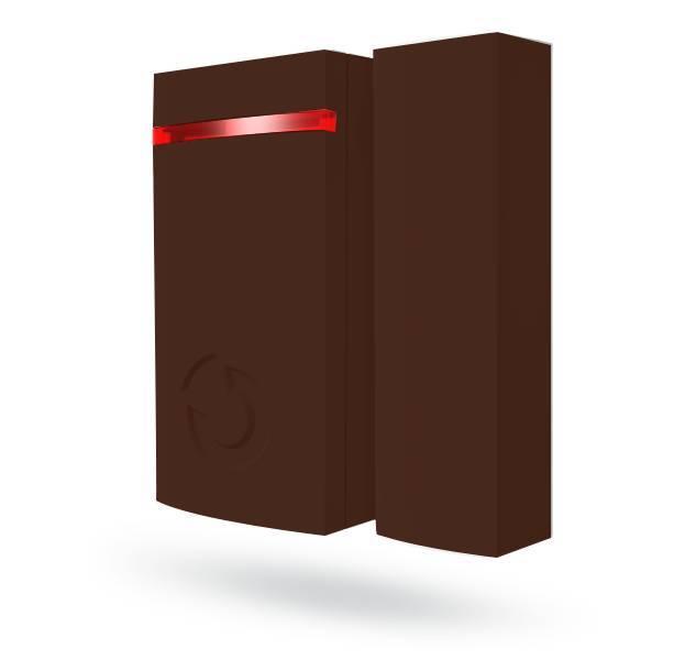 El mini contacto magnético inalámbrico Jablotron JA-151MB está diseñado para detectar la apertura de puertas y ventanas. El JA-151MB tiene un diseño pequeño y único adecuado para todo tipo de instalaciones.