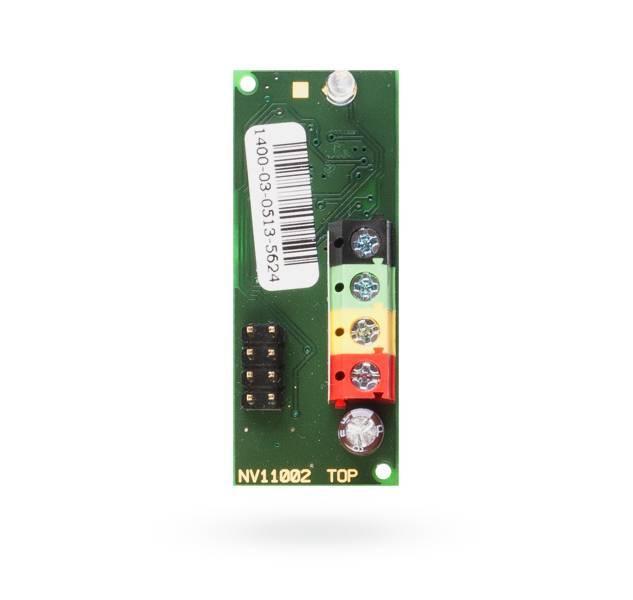 Le module de connexion JA-110G-CO est un module enfichable destiné à un montage direct dans un détecteur autonome Ei208W Ei208DW ou CO, ce qui permet la connexion de la douille avec le système JABLOTRON 100.