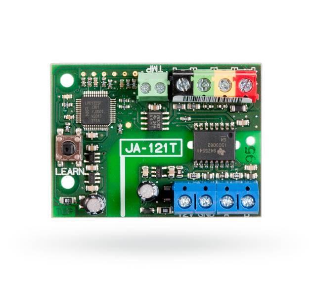 O módulo Jablotron JA-121T é um conversor universal para RS-485 para outros sistemas. Ele sincroniza a transferência do barramento de sistema JABLOTRON 100 para a linha serial RS-485 e vice-versa. Usado, por exemplo, para a conexão com um in ...