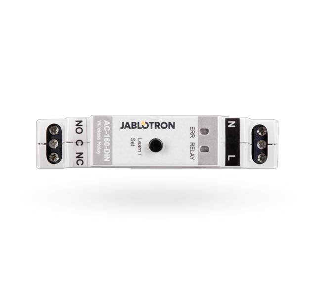 L'AC-160 relè DIN-multi-funzione wireless è un componente del sistema 100 JABLOTRON, ma può anche essere installato come dispositivo indipendente senza alcun collegamento in un pannello di controllo. Esso fornisce un relè interruttore contatto con ...