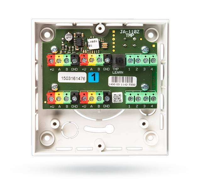 Il modulo di connessione JA-110Z è progettato per diramazione del bus del sistema JABLOTRON 100. E 'protetto dall'attacco da una coppia sabotaggio dei contatti. È contenuto in una scatola di installazione adatto JA-190PL. Il contactmodu ...