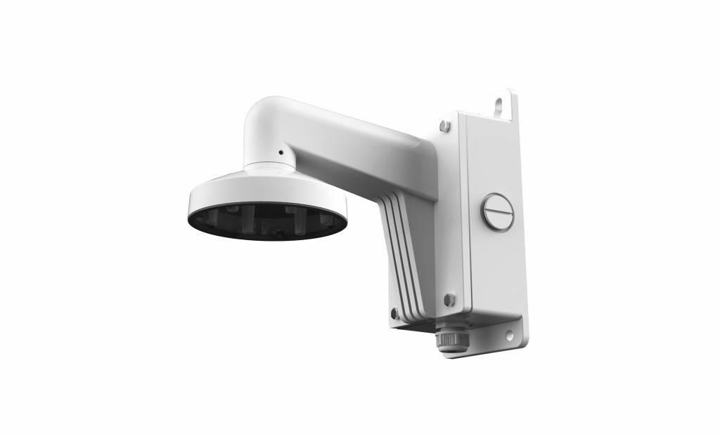 Hikvision DS-1273ZJ-DM25 aluminum wall bracket for DS-2CD63xx fisheye cameras.