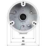 Dahua Caja de montaje PFA135 para uso en exteriores