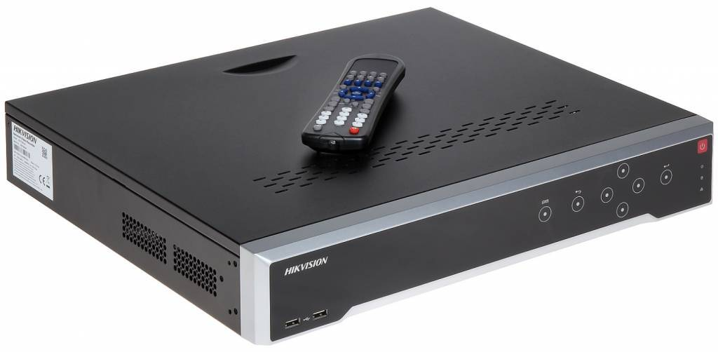 "The Hikvision DS-7732NI-I4 is a 19 ""32 channel NVR with a 4K Ultra HD HDMI output. This NVR manages and records locally up to 32 IP cameras. This recorder supports a maximum incoming bandwidth of 160Mbps and can record up to 12MP cameras. ..."