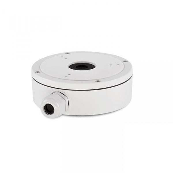 Caja de montaje de aluminio Hikvision DS-1280ZJ-XS para las mini cámaras tipo bala DS-2CD20xx y DS-2CExx. * También es adecuado para las cámaras Turbo HD DS-2CE56xxT-ITM.