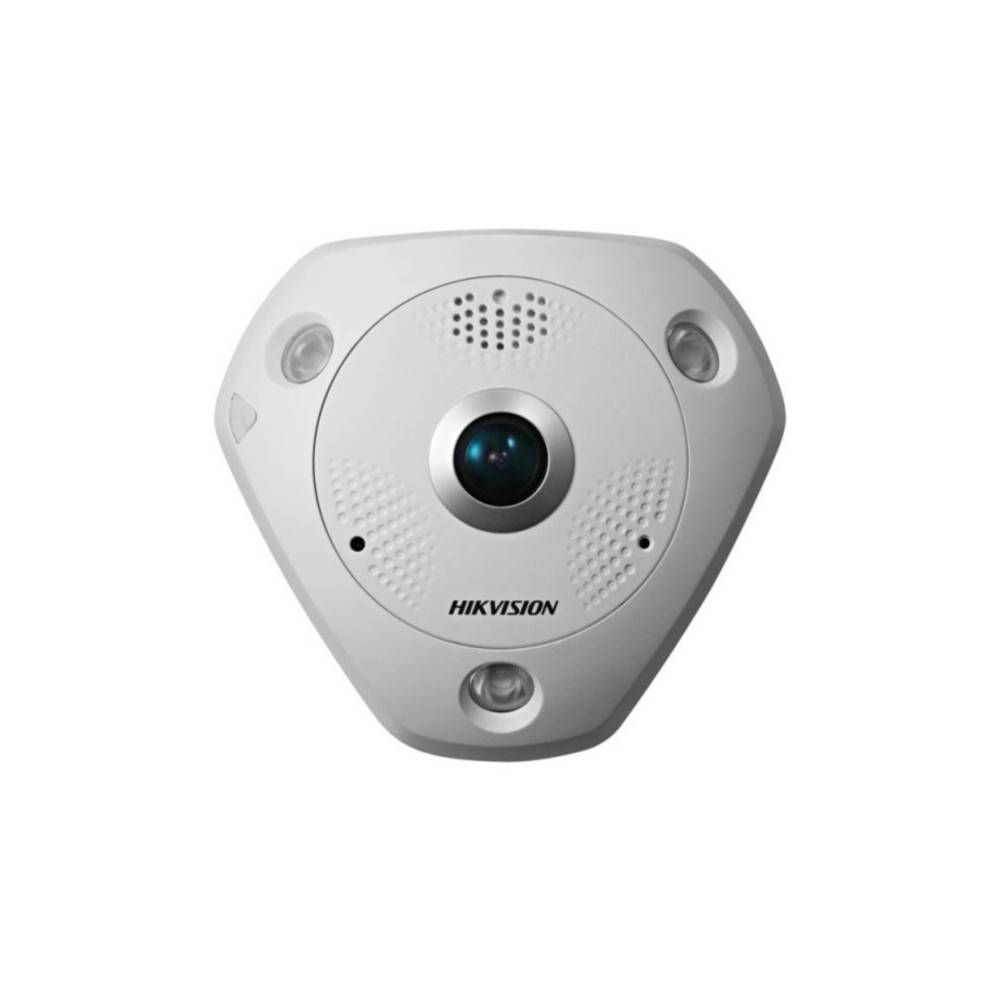 Hikvision DS-2CD6362F IVS-OUT versue 6 MP de la cámara de ojo de pez de 6 líneas 360 grados es una cámara 6MP con la gama de 360 grados 15m IR. La cámara panorámica 6MP es perfecta para capturar una imagen vista desde el centro de una habitación. Una ún