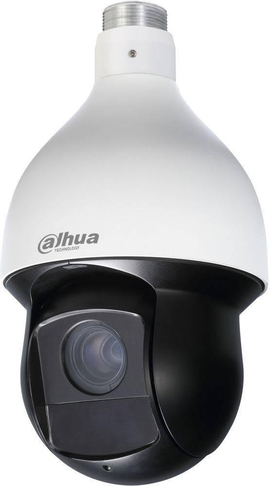 Dahua SD59230T-HN è una telecamera dome PTZ Full HD da 2 megapixel ad alta velocità per uso interno o esterno con zoom ottico 30x, visione notturna IR da 100 metri e registrazione su scheda SD. La telecamera può inclinarsi, ruotare e zoomare (Pan / Tilt /