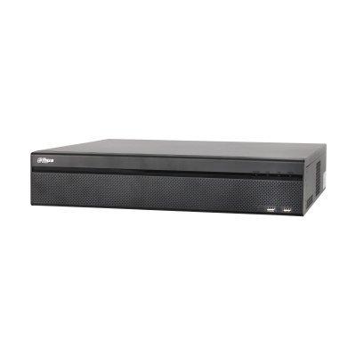 Dahua DH-NVR608-32 4K, Grabador de video en red en tiempo real para 32 cámaras IP. Puede conectar hasta 32 cámaras IP a través de un interruptor externo (PoE). Este grabador de video en red 4K admite imágenes en vivo Full HD en todos los canales. Gracias