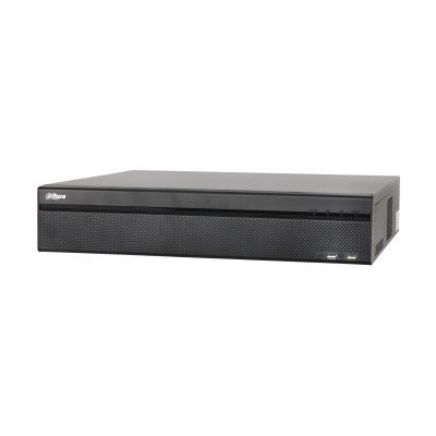 Dahua DH-NVR608-32 4K, Realtime Network Video Recorder for 32 IP cameras. You can connect a maximum of 32 IP cameras via an external (PoE) switch. This 4K Network Video Recorder supports PoE with Full HD live image across all channels. Thanks to ...