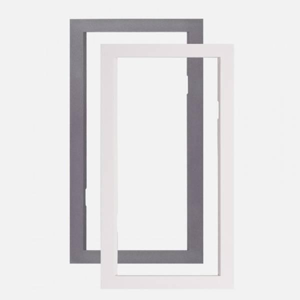 JA-193PL-FMW, cadre blanc pour boîte de montage DesignLine sans fil PIR