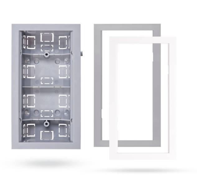JA-193PL-FMG, cadre gris pour boîte de montage DesignLine sans fil PIR