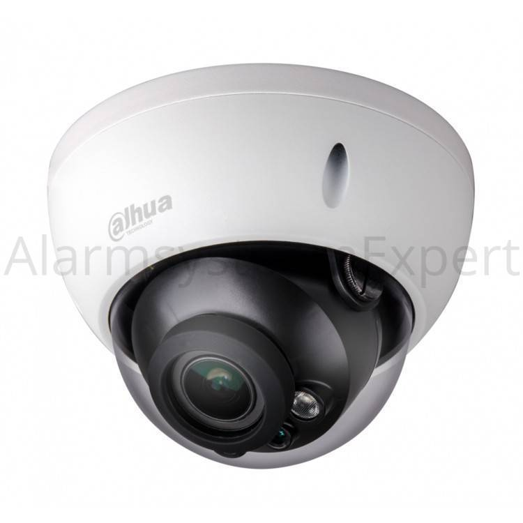 The Dahua IPC-HDBW4433-ZS is a compact dome camera 4 megapixel, IR Leds, 2.8-12mm motor zoom lens and a 120dB WDR function. This camera is therefore very light-sensitive. Due to this function, a color image can still be seen in the dark .......