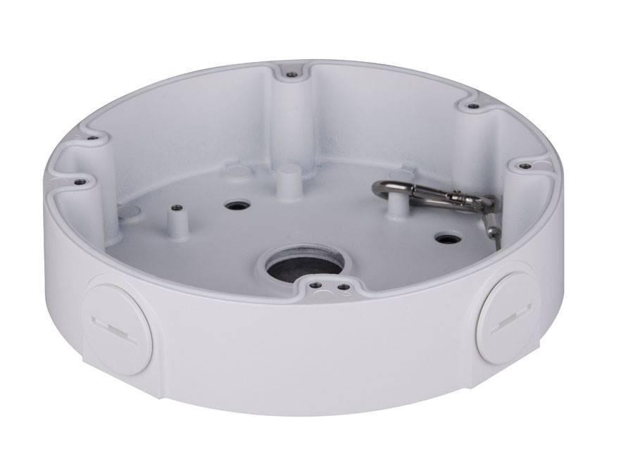 Caixa de montagem Dahua PFA138 para uso externo com câmeras IP HDBW5421EP-Z e HDBW8331E-Z. E a câmera HDVCI HDBW3231E-Z.